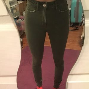 American Eagle green jeans